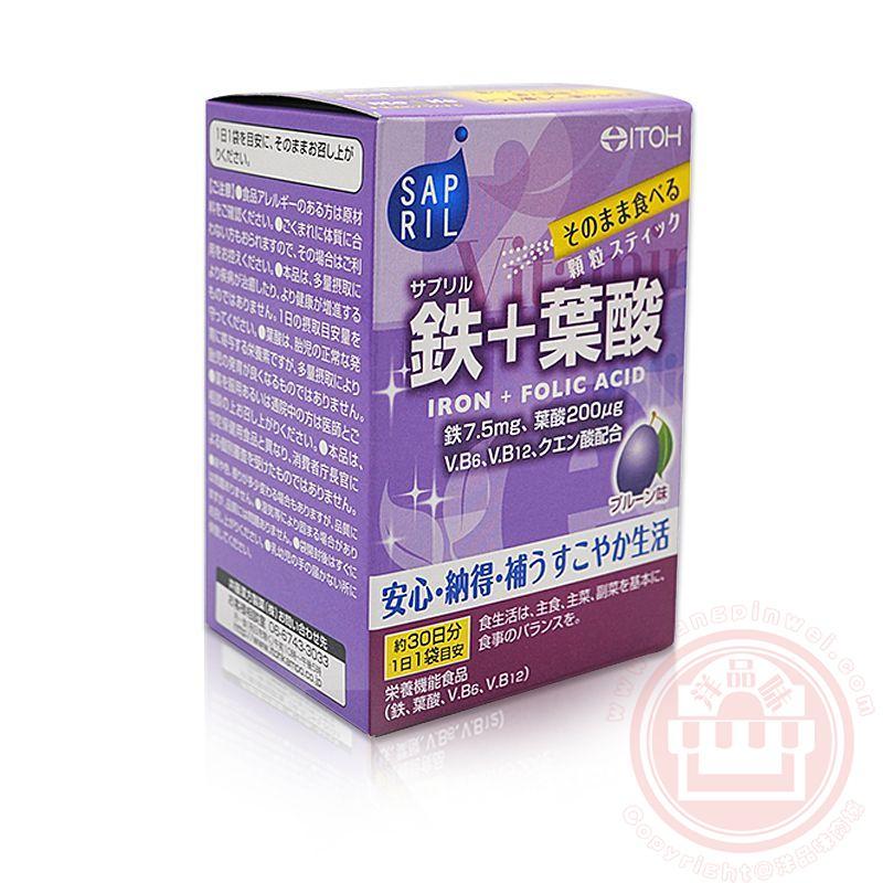 日本 井藤汉方 铁+叶酸